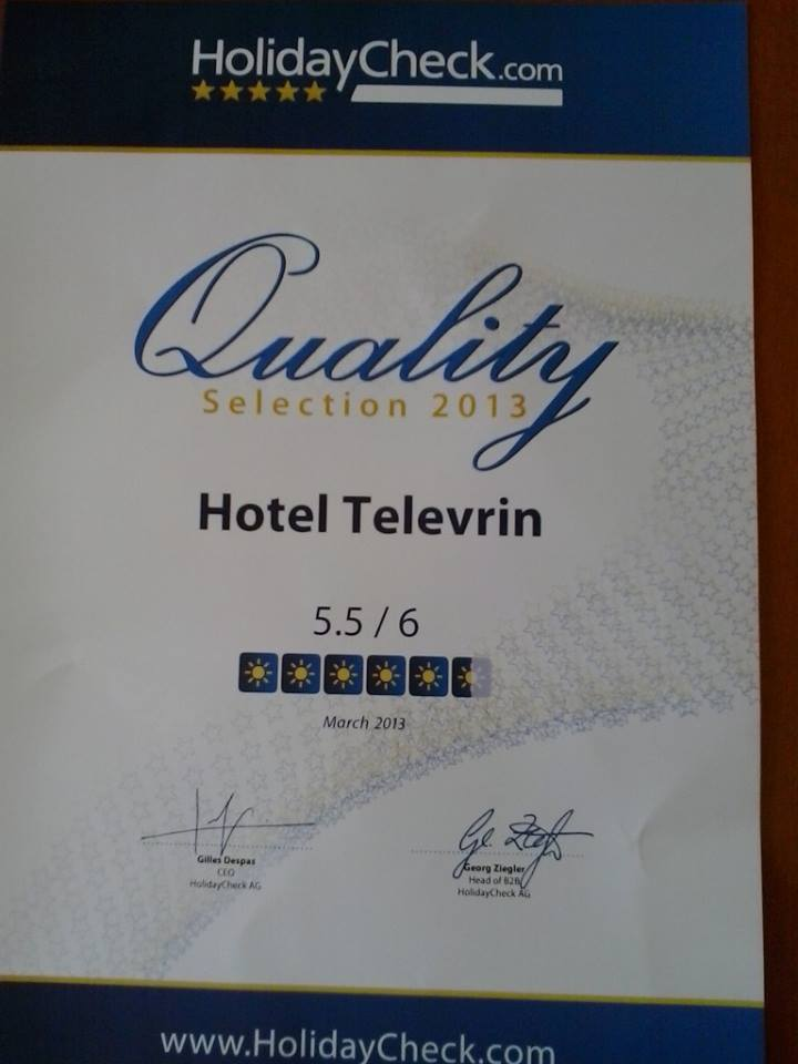 Hotel Televrin HolidayCheck Quality Selection 2013